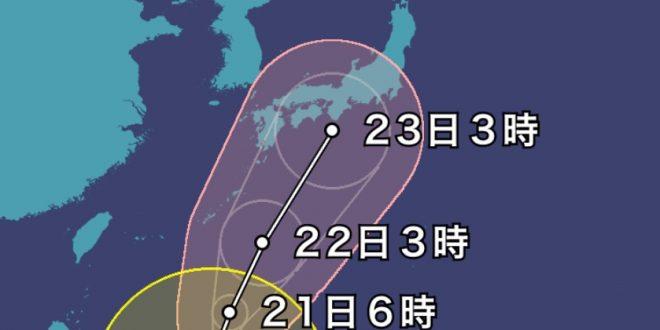 季節外れの台風日本列島直撃